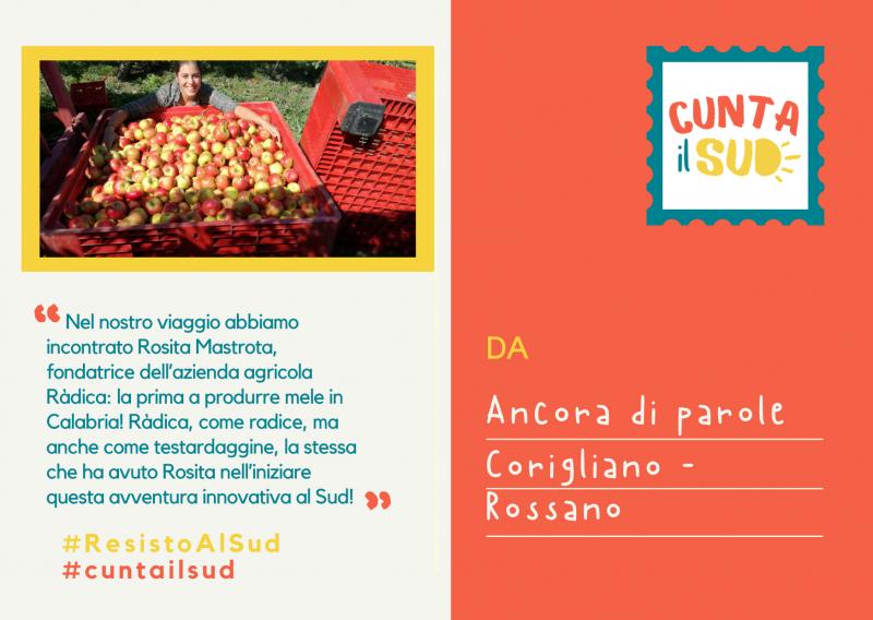 Rosita Mastrota è la fondatrice dell'azienda agricola Ràdica, non un'azienda come tante, ma la prima a produrre mele in Calabria!