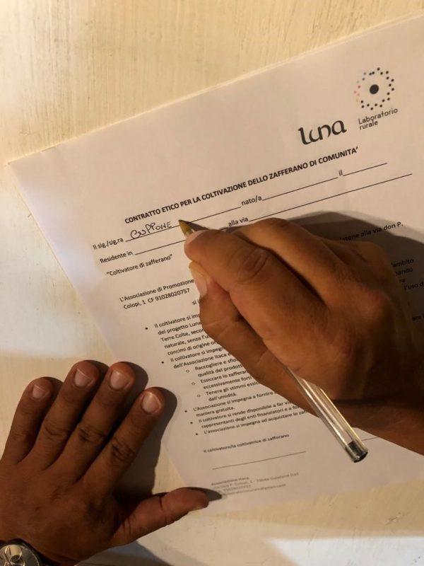 firma del contratto etico per la donazione dei bulbi