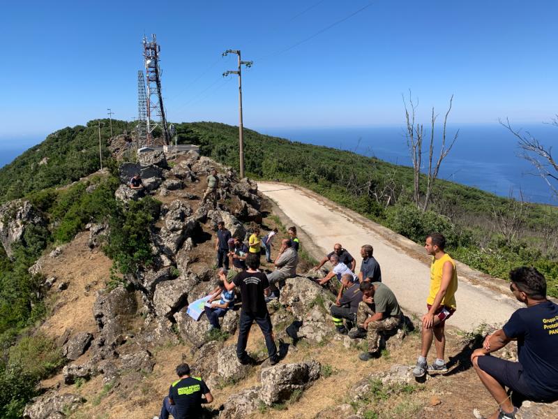 Corso antincendio a Montagna Grande sull'Isola di Pantelleria
